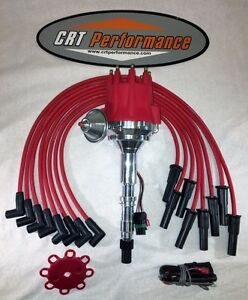 Small Cap Amc Jeep 290 304 343 360 390 401 Red Hei Distributor 8mm Plug Wires