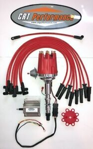 Small Cap Amc Jeep 290 304 343 360 390 401 Red Hei Distributor 60k Coil Wires