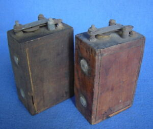 Pair Of 2 Model T Ford Parts Wood Box Ignition Coils