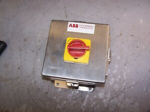 New Abb 100 Amp Stainless Steel Disconnect Switch 600 Vac 60 Hp Oetl nf100