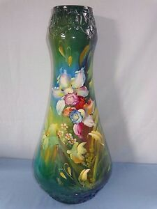 Huge Royal Bonn 2636 Floral Decorated Floor Vase