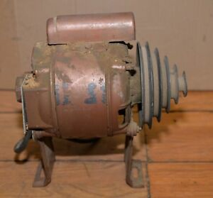 Vintage General Electric 1 3 Hp Watchmaker Lathe Motor 5 Step Pulley Collectible
