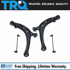 Trq 4 Pc Suspension Kit Lower Control Arms W Ball Joints Sway Bar End Links New