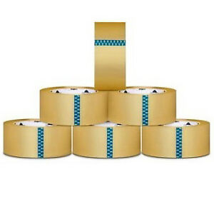 18 Rolls Clear Box Packing Shipping Tape 4 inch X 72 Yards 2 0 Mil Thick 18