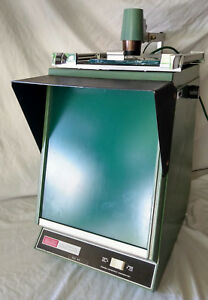 Readex Universal Micro viewer Microfiche Unit Vtg 1960s 70s Green Library Screen