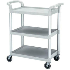 Cambro Knocked Down Grey Bus Cart With Casters