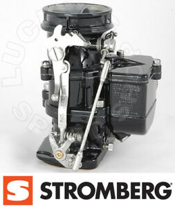 Genuine Stromberg 97 Carburetor Black And Chrome Finish Carb 9510a Blk
