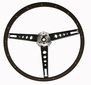 1965 1966 Ford Mustang Woodgrain Steering Wheel
