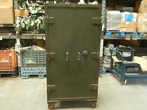 Toledo Meilink S 32997 Antique Vintage Storage Cabinet Safe Box W Metal Casters