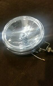 2 Glass Vintage Round Fog Lights Bmw Ti Tii 2002 Chrome Jeep Willys 4x4 Truck Gt