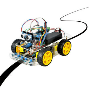 4wd Robot Car Kit For Arduino Tracking Bluetooth Wifi Android Ios App Control