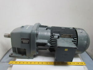 Nord Sk 100 L 40 4 Hp 3 Kw Electric Gear Drive Motor W inline Speed Reducer