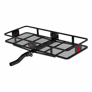 Curt Vehicle Folding Mounting Basket Style Cargo Carrier For Up To 500 Lbs 18153