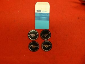 4 Nos 71 72 73 Ford Mustang Magnum 500 Mustang Wheel Center Appliques