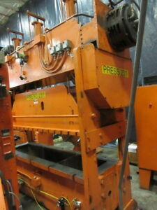 100 Ton Rousselle Straight Side Double Crank Metalworking Press Inv 5201 Used