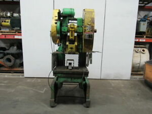 Rouselle No 6 Mechanical 60 Ton Obi Punch Press 3 Stroke 10 Throat
