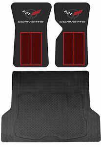 Custom Front Rubber Floor Mats Universal Cargo Mat For 68 82 Chevy Corvette C3
