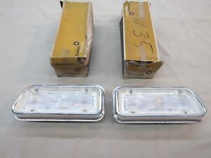 Nos 1967 Chevy Biscayne Rear Tail Light Back up Lamp Assembly Gm 911281 282