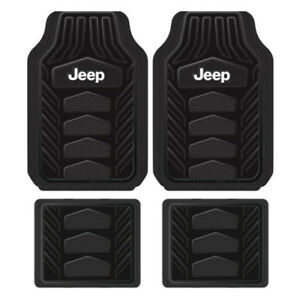 New 4pc Jeep All Weather Pro Heavy Duty Rubber Floor Mats Set Official Licensed