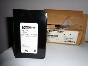 Marathon 1432563 Power Distribution Block 2 Pole 3 8 16awg 230amps 600volts New