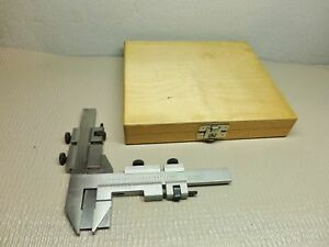 Gear Tooth Vernier Calipers In Wood Box Inoxydable Stainless Germany Made