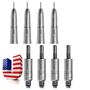 4set Dental Straight Nose Handpiece E type Motor Internal Cooling Skysea O a