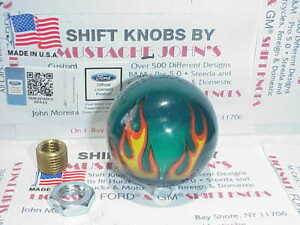 Green Flame Custom Shift Knob Car Truck Motorcycle Hot Rod
