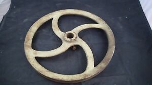 Late 1800 s Early 1900 s Antique Pedal Flywheel pulley Vintage Steampunk 1