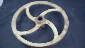 Late 1800 s Early 1900 s Antique Pedal Flywheel pulley Vintage Steampunk 2