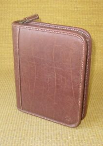 Compact 1 25 Rings Brown Distressed Sim Leather Franklin Covey Planner binder