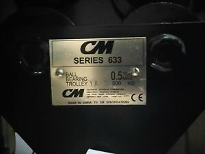 New 1 2 Ton Cm 633 Series Push Trolley 2 50 To 5 625 Beam Flange Width
