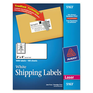 Avery Dennison 5163 Address Labels box Of 1000