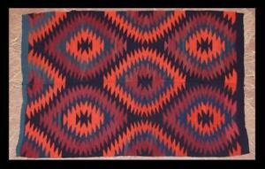 Greece Greek Thessaly Elassona Indian Style Old Handwoven Wool Kilim 148x98cm
