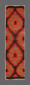 Greece Greek Thessaly Indian Style Old Handwoven Wool Kilim Runner 190x46cm