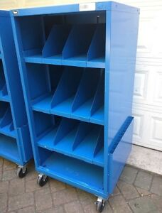 Stanley Vidmar Commercial Shelf Open Tool Shop Equipment Cabinet On Casters