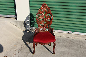 Beautiful Walnut Victorian Rococo Slipper Chair With Heavily Carved Back Ca 1860
