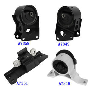 Engine Motor Trans Mount Set 4pcs For 2004 2009 Nissan Quest 3 5l Automatic