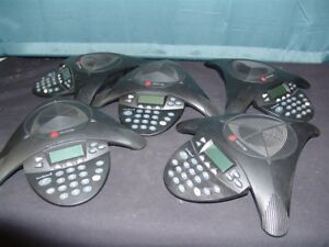 Lot Of 5 Polycom Soundstation 2 Conference Phones 2201 16200 001 Tested