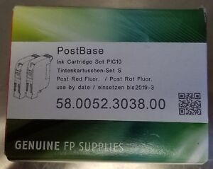 Genuine Fp 58 0052 3038 00 Francotyp Postbase Pic10 Red Ink Cartridge Box Of 2