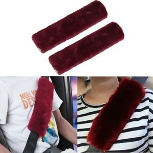 2pcs Car Safety Seat Belt Shoulder Strap Cover Cushion Harness Pads Protector