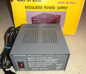 Csi Speco Regulated Power Supply Psr 7 13 8v 7 Amp Dc Unused