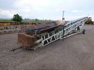 1988 Custombuilt 24 x 60 Portable Radial Stacker Conveyor Kubota Diesel 2434