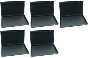 5 Black Faux Leather Jewelry Display Trays With Snap Close Lid 14 3 4 X 8 1 4