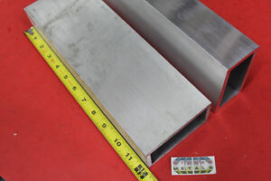 2 Pieces 2 X 4 X 1 4 Wall Aluminum Rectangle Tube 12 Long 6061 T6