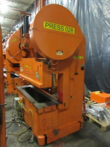 100 Ton Rousselle Double Crank Gap Frame Press Stamping Planet Machinery 5203