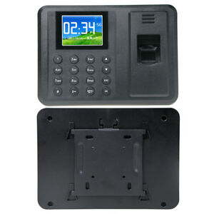 Electronic Fingerprint Time Attendance Machine Employee Clock Recorder Striking