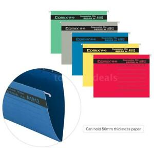 5 Colors A4 Hanging File Folders Documents Organizer Tabs Inserts Filing T3h6