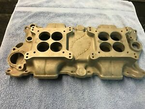 Chevy 2x4 Vintage Offenhuaser Intake Manifold Small Block 283 327 350 Rat Rod