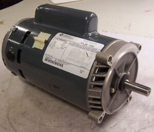 New Ge 1 Hp Electric Ac Motor 115 230 Vac 3450 Rpm 56c Frame 1 Phase