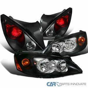 06 09 Pontiac G6 Coupe 2dr Black Headlights tail Lights Parking Lamps Left right